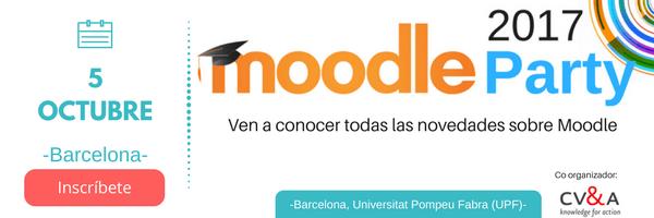 La 8ª edición de la Moodleparty 2017 se celebrará en Barcelona el 5 de octubre