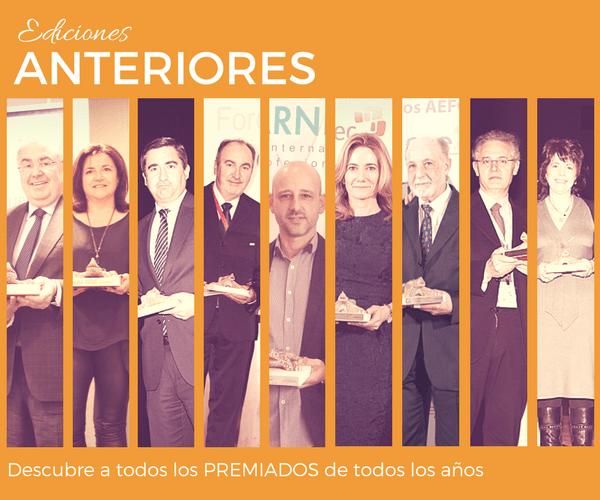 Premios AEFOL Ediciones Anteriores