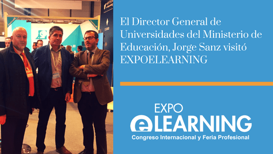 El Director General de Universidades del Ministerio de Educación visitó EXPOELEARNING