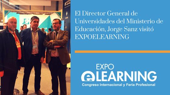 El Director General de Universidades del Ministerio de Educación visitó EXPOELEARNING