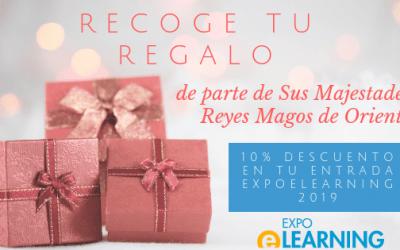 Recoge tu regalo de Reyes: 10% descuento en tu entrada a EXPOELEARNING 2019