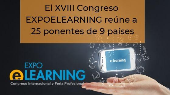 El XVIII Congreso EXPOELEARNING reúne a 25 ponentes de 9 países