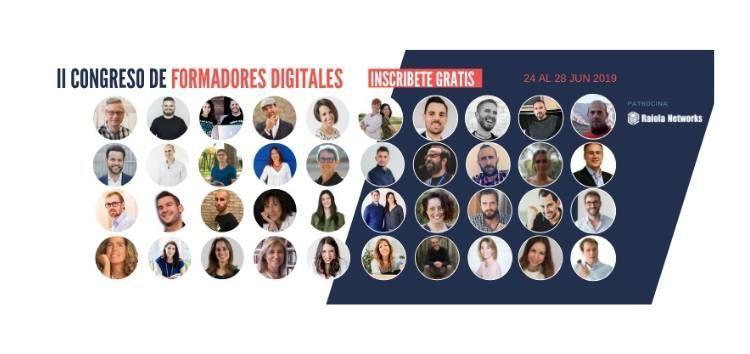 El II Congreso de Formadores Digitales reúne a 40 expertos en cursos online en un encuentro virtual y gratuito