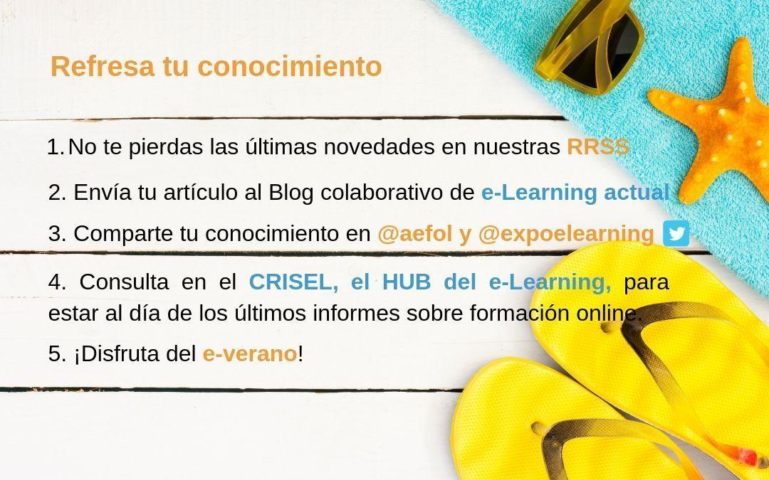 Un verano diferente con e-learning