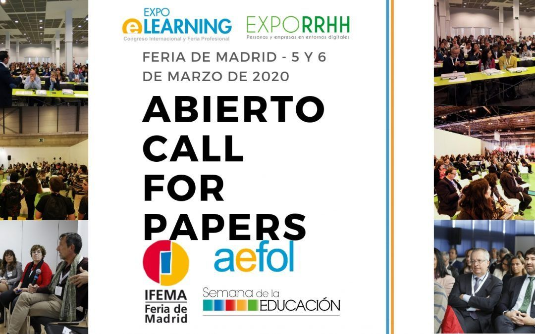 Call for papers XIX EXPOELEARNING en Feria de Madrid, 5 y 6 de Marzo 2020
