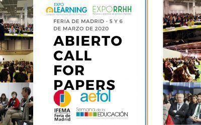 Call for papers XIX EXPOELEARNING en Feria de Madrid, 5 y 6 de Marzo 2020
