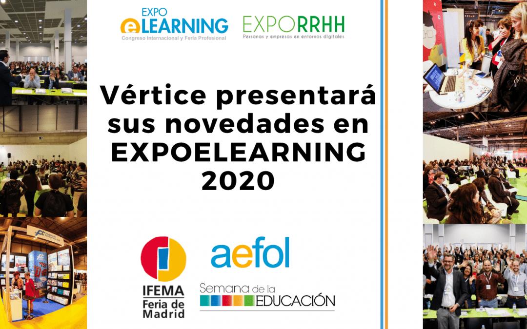 Vértice presentará sus novedades formativas en EXPOELEARNING 2020
