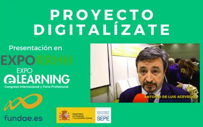 Vídeo presentación DIGITALIZATE en EXPOELEARNING