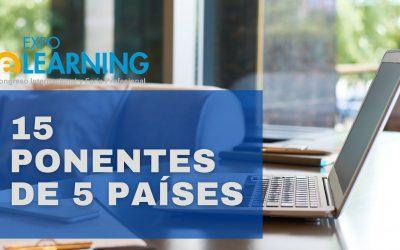 EXPOELEARNING VIRTUAL SE CELEBRARÁ EL 20 y 21 DE OCTUBRE CON LA PARTICIPACIÓN DE 15 PONENTES DE 5 PAÍSES